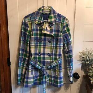 Boden Plaid Spring Cotton Jacket Sz 10 (US) 14(UK)